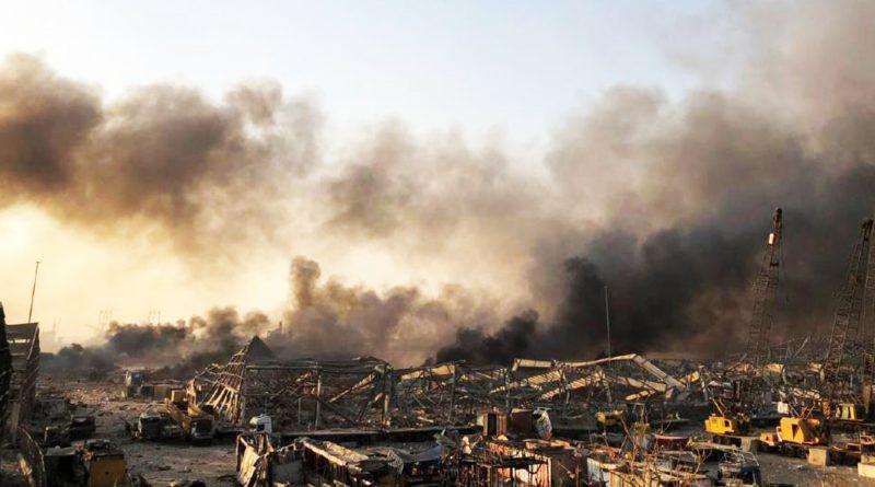 Líbano: Se registra una explosión masiva en la zona del puerto de la capital.